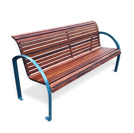 EM016 Chelsea Seat with Timber Batten option and powdercoated Frame Wizard Blue.jpg