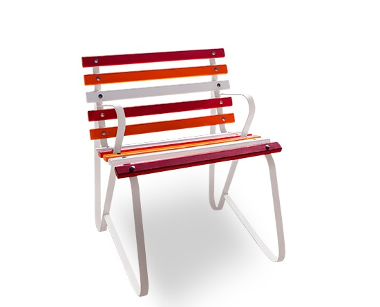 Garden Chair with Painted Battens modified Surface