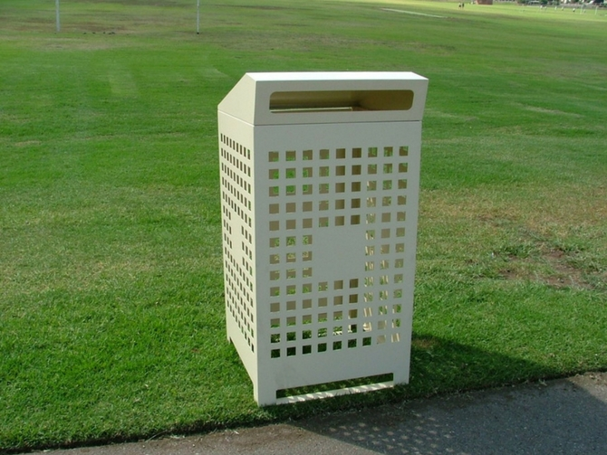 EM222 Parkside Bin Enclosure 240L Powdercoated with modified Chute and Rear Door, 1.jpg